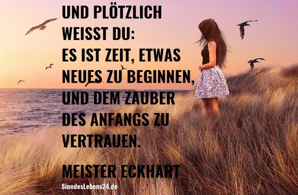 Motivationsspruch Meister Eckhart, Motivation, Zitate, Spruch