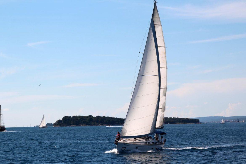 Das Weiße Segel Wohin Der Wind Des Glücks Dich Trägt Von