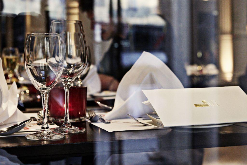 Tischdekoration im Cafe Luitpold