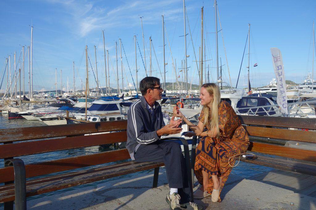 Sabine Spethling im Interview mit dem legendären DJ Pippi auf Ibiza