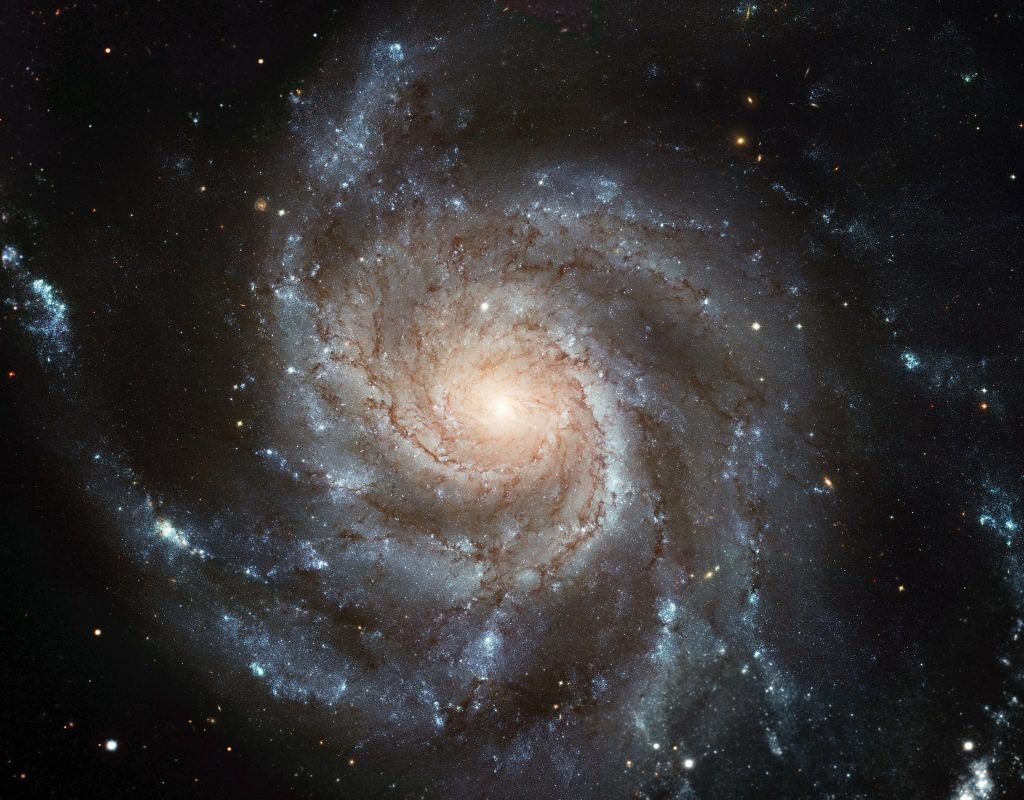 Bild einer Spiralgalaxy im Weltraum