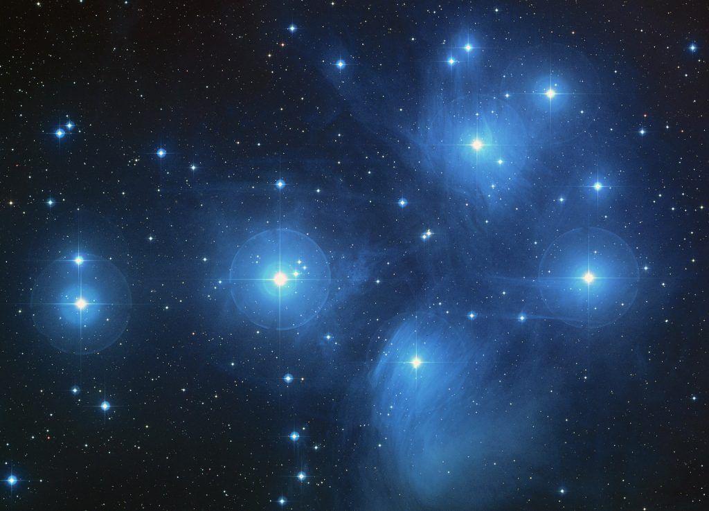Weltall, Sterne, pleiades star cluster