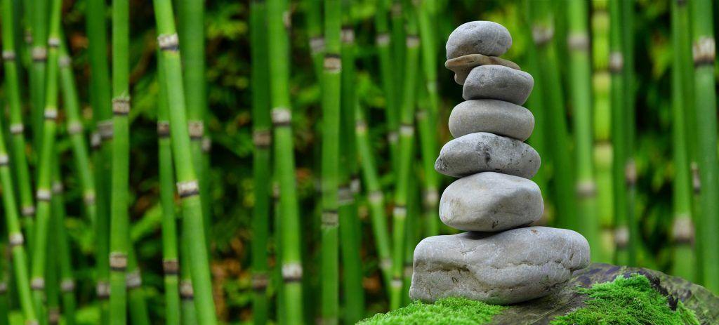 zen, Steine, Bambus