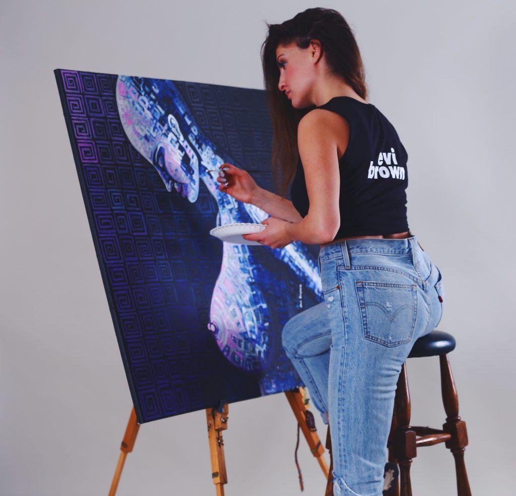 Evelina Arakelyan, Staffelei, Kunst und Zitate Freiheit