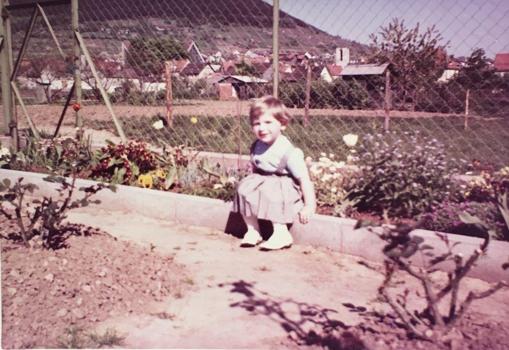 Maria Bachmann, Bild aus der Kindheit
