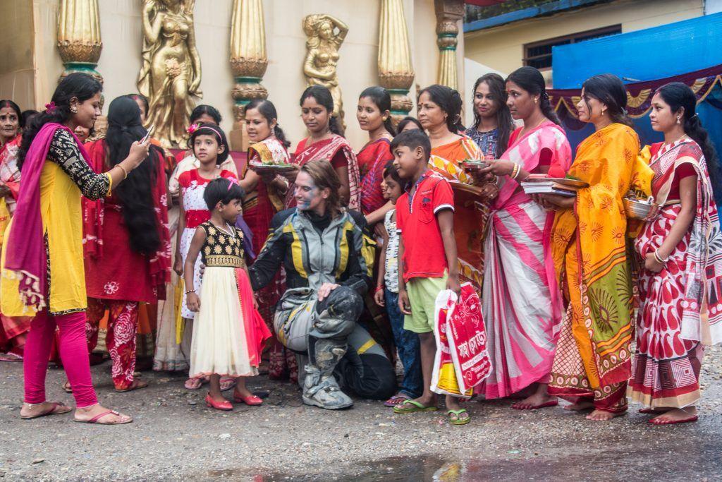 Lea Rieck in Indien, Durga Puja Festival