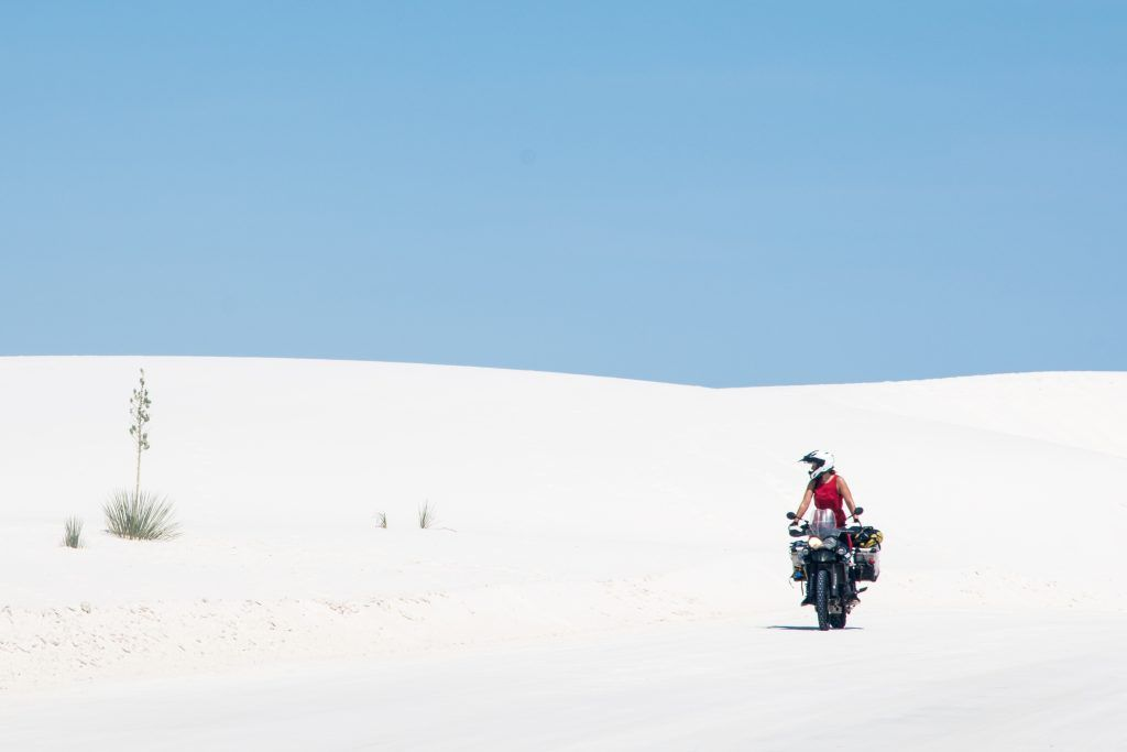 Lea Rieck in White Sands, USA