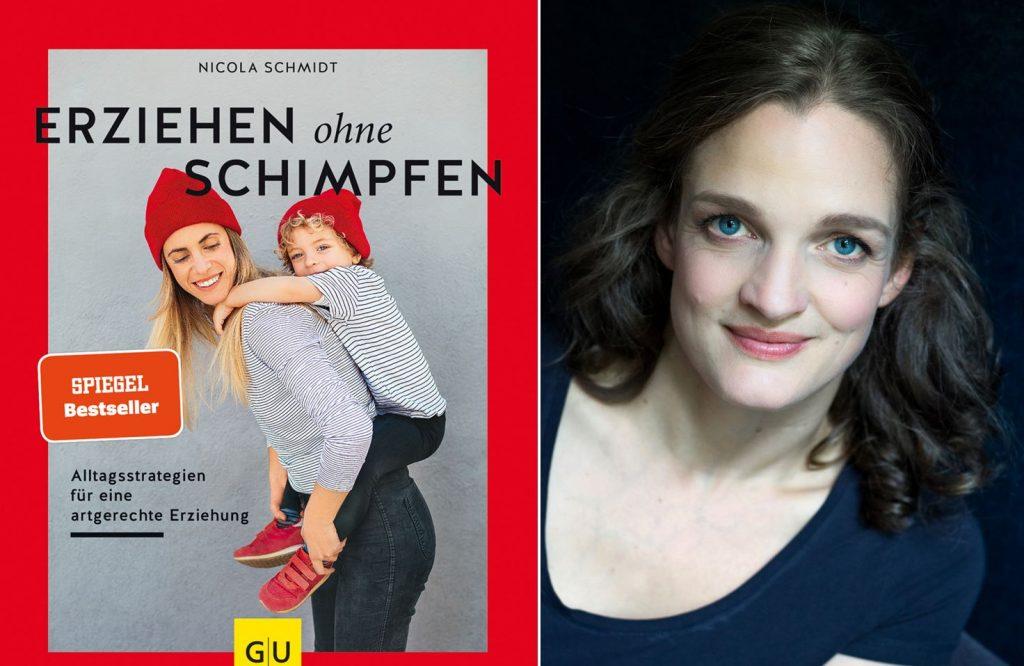Buch Erziehen ohne Schimpfen und Porträt Nicola Schmidt