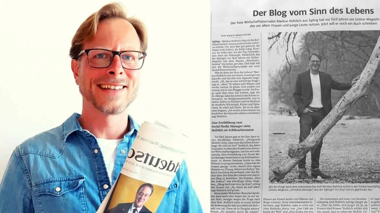Markus Hofelich, SinndesLebens24, Artikel in der Süddeutschen Zeitung