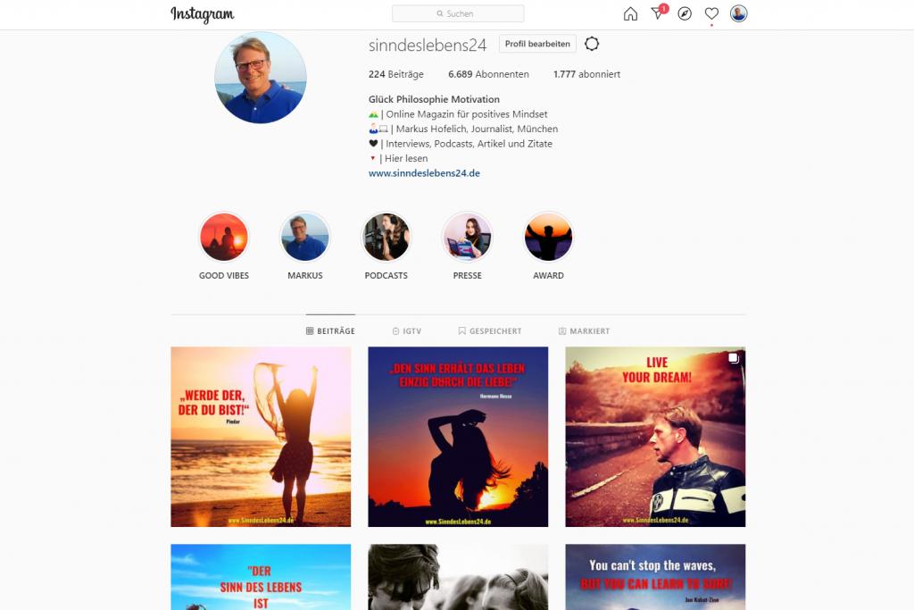 Instagram Profil von SinndesLebens24
